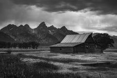 Granero mormón del parque nacional magnífico de Teton Foto de archivo