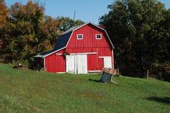Granero rojo Foto de archivo libre de regalías