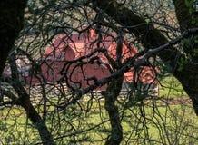 Granero rojo foto de archivo