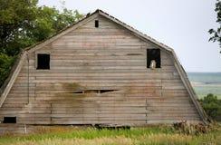 Granero Saskatchewan de la pradera Imagenes de archivo