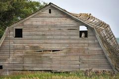 Granero Saskatchewan de la pradera Foto de archivo libre de regalías