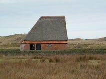 Granero tradicional de las ovejas en la isla Texel imagen de archivo libre de regalías