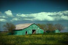 Granero verde Imagenes de archivo