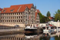 Granero viejo en Bydgoszcz Foto de archivo