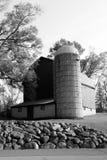 Granero viejo en las colinas Michigan de Farmington Foto de archivo libre de regalías