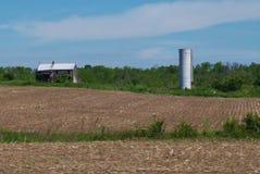 Granero y silo Foto de archivo