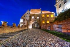 Graneros con la puerta de agua en Grudziadz Fotos de archivo libres de regalías