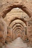 Graneros y establos inmensos, Marruecos de los €™s de Moulay Ismailâ Fotografía de archivo libre de regalías