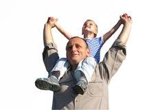 Granfather com neto Fotos de Stock
