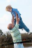 Granfather mit Enkel lizenzfreies stockfoto