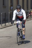 FLORENCE, ITALY - MARCH 2: Competitor during the Granfondo Firenze DeRosa race Stock Photography
