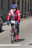 FLORENCE, ITALY - MARCH 2: Competitor during the Granfondo Firenze DeRosa race Royalty Free Stock Photos