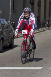 FLORENCE, ITALY - MARCH 2: Competitor during the Granfondo Firenze DeRosa race Royalty Free Stock Images