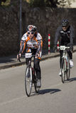 FLORENCE, ITALY - MARCH 2: Competitor during the Granfondo Firenze DeRosa race Royalty Free Stock Image