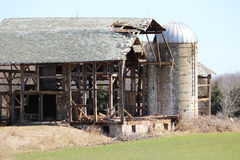 Grange étant démolie Photographie stock