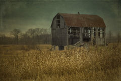 Grange abandonnée dans le Canada Photos stock