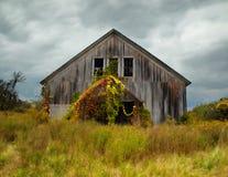 Grange abandonnée en automne Image stock