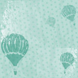 Grange background. Old-styled grange background with balloons Royalty Free Stock Photos