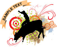 Grange bull ride Royalty Free Stock Photo