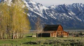 Grange célèbre de Jackson Hole Images libres de droits