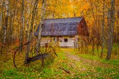 Grange d'automne photo libre de droits