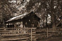 Grange dans les bois Image libre de droits
