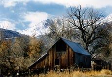 Grange dans Wellsville Utah Images libres de droits