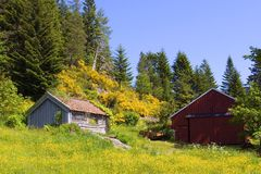 Grange de montagne Images libres de droits