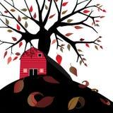 Grange en automne Images libres de droits