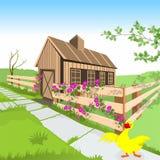 Grange et canard Images libres de droits