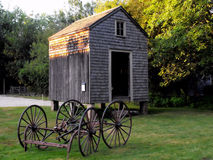 Grange et chariot Photos libres de droits
