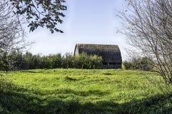 Grange et ferme abandonnées Images libres de droits