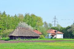 Grange et hutte antiques Images libres de droits