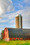Grange et silo Images libres de droits