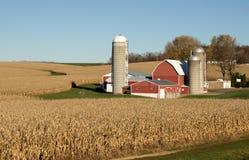 Grange et silos Photographie stock