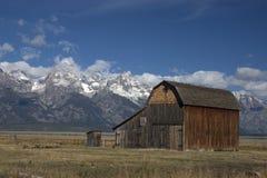 Grange historique dans la ligne mormone Photo stock