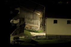 Grange italienne la nuit Photo libre de droits