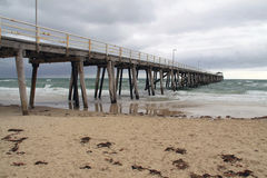 Grange Jetty in Bad Weather, Australia Royalty Free Stock Image