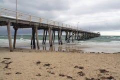 Grange Jetty in Bad Weather, Australia. Grange Jetty in Bad Weather, Grange Beach, Adelaide, Australia Royalty Free Stock Image