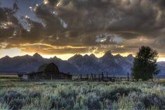 Grange mormone de ligne Photographie stock libre de droits