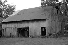 Grange noire et blanche Photographie stock