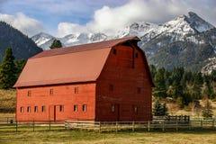 grange orientale d'exploitation d'un ranch de l'Orégon dans le comté de Wallawo Image stock