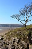 Grange-over-Sands from near White Creek at Arnside Royalty Free Stock Images