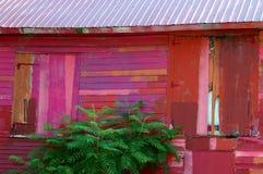 Grange peinte par rapiéçage photographie stock libre de droits