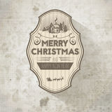 Grange retro vintage old-looking Christmas decorative label Stock Image