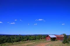 Grange rouge de l'Orégon Photo libre de droits