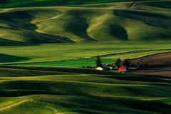 Grange rouge, Palouse, Washington State Photographie stock libre de droits