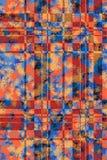 Grange seamless cell pattern Stock Image