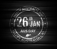 Grange stamp australia day in circle frame. Stamp or emblem for Stock Photo
