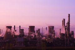 Grangemouth BP Oil Refinery Sunset Stock Photo